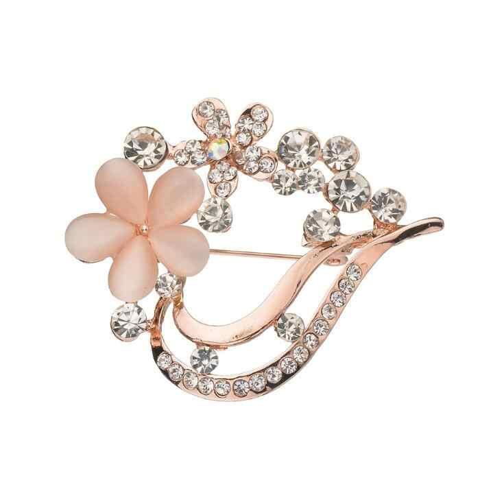 Panas Hati Cinta Romantis Opal Bunga Bros untuk Wanita Pernikahan Gaun Pakaian Gesper Pria Jas Korsase Bros Perhiasan Aksesori