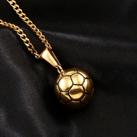Exquisite solid football model hip hop pendant men's ice out charm hip hop necklace jewelry