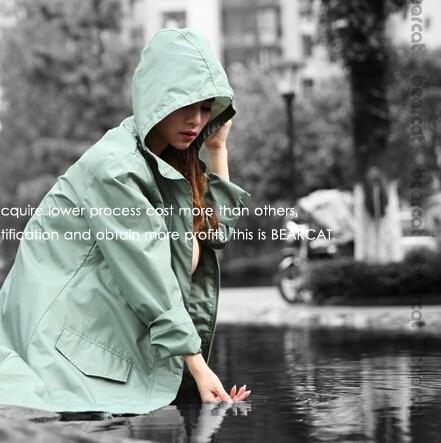 Panjang tipis bernapas pakaian luar jas hujan wanita / perempuan - Barang-barang rumah tangga