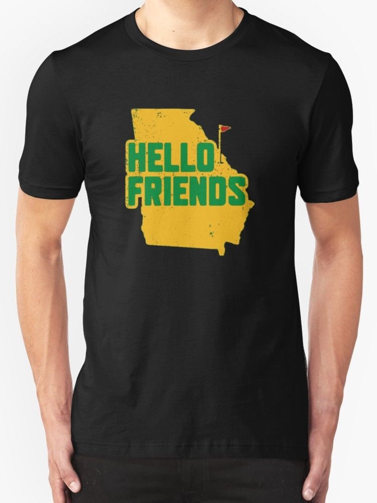 Masters Shirt - Hello Friends Golfed T-Shirt Mens Black Cotton Low Price Top Tee For Teen Boys