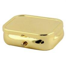 UXCELL Металлический Прямоугольник 2 Сетка Влагостойкий Съемная Pill Box Хранения Золотой Тон