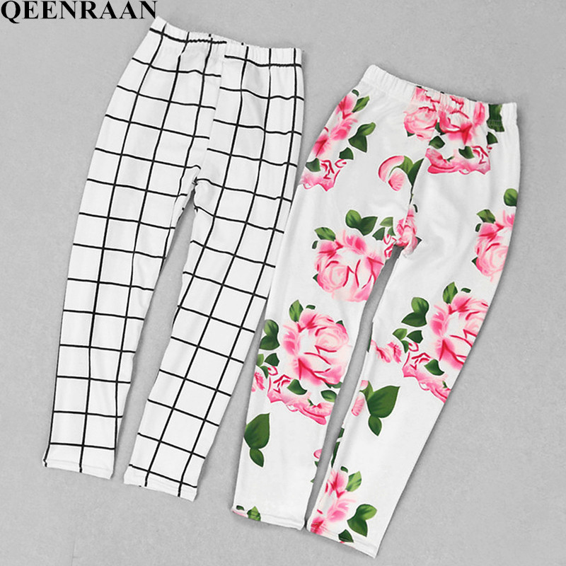 2019 Multi Color Girl Pant Sweet Princess Leggings Girl Summer Flower Printing Skinny Trousers Kids Leggings Children Clothing(China)