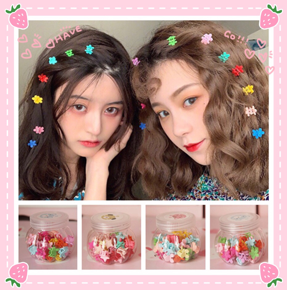 Qualified 36pc/bottle Cartoon Mickey Head Flowers Stars Comics Hair Pin Hair Clip For Girls Gift Toy Figure Sale Price Toys & Hobbies