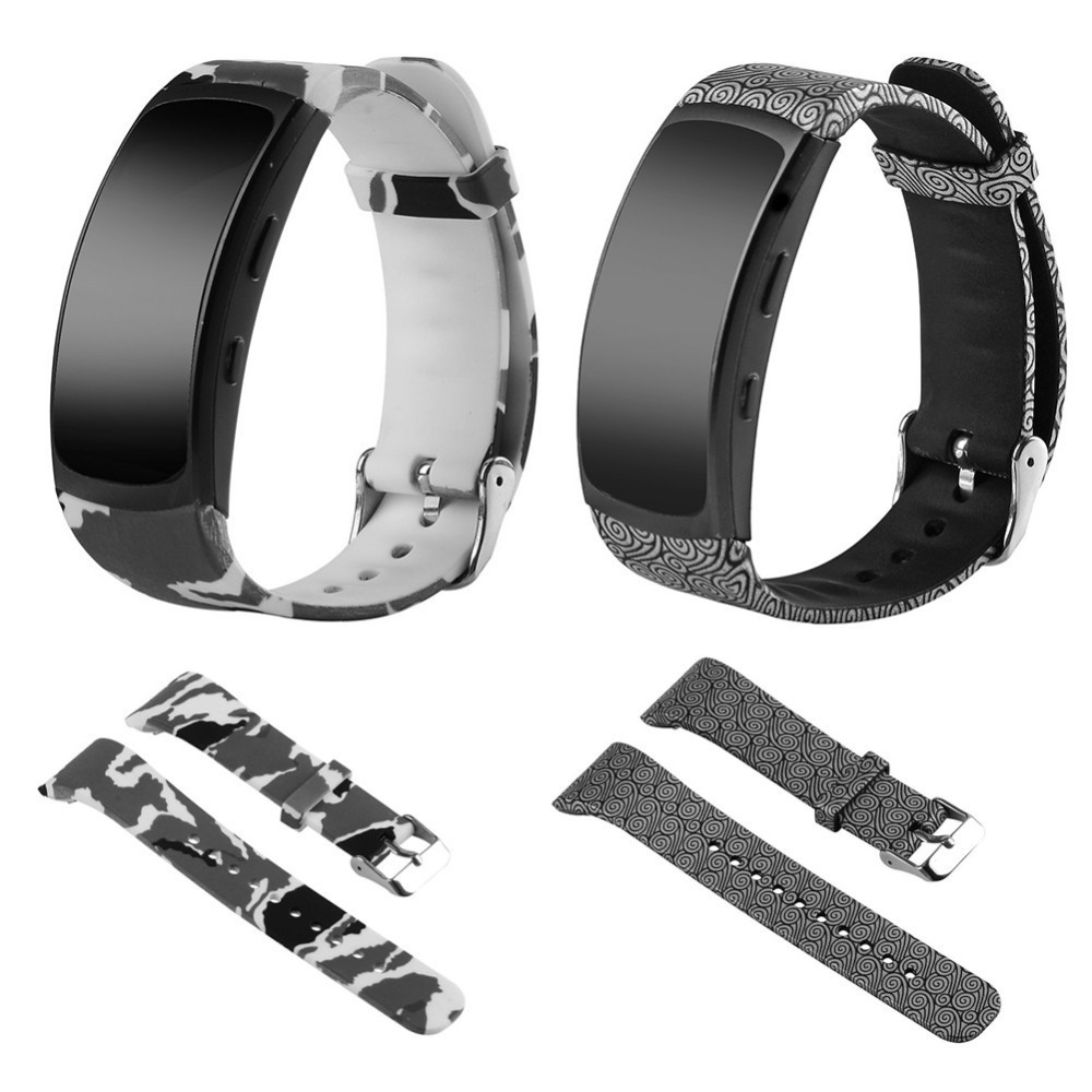 NEW Personalized Soft Silicone Replacement Watch Band Strap Wristband For Samsung Gear Fit 2 SM-R360 / R365 S/L