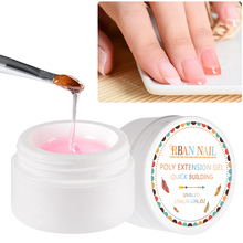 RBAN NAIL 15ml Quick Building Poly Nail Gel Set Pink Nude Crystal Jelly Builder UV Finger Extension Art Tips