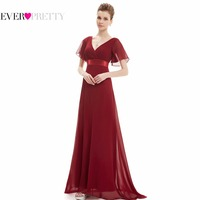 HE09890 Glamorous Double V Neck Ruffles Padded Evening Gowns Formal
