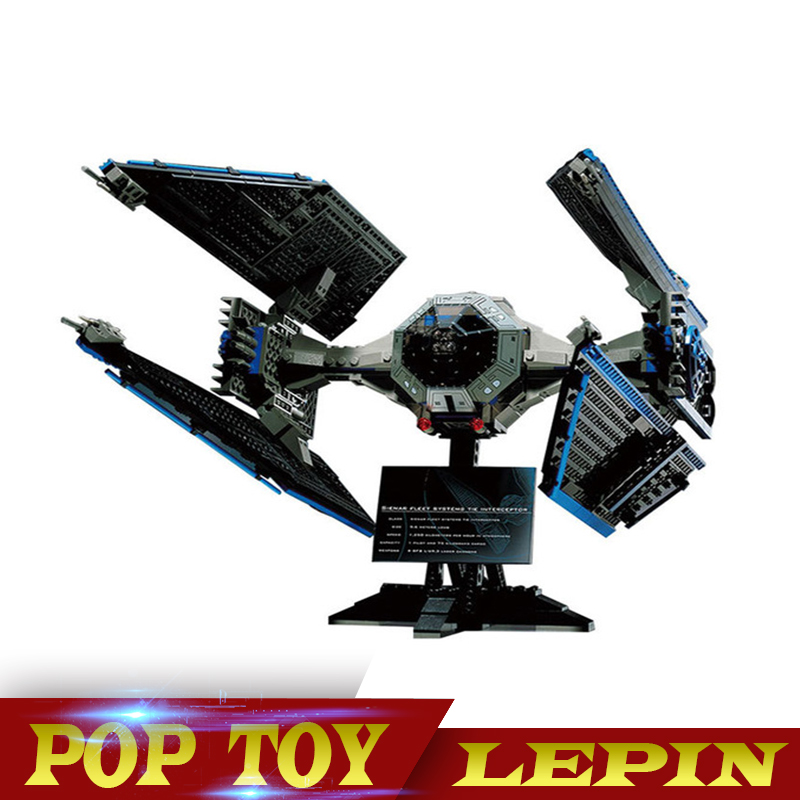 Lepin 703pcs 05044 Star Series Wars Limited Edition TIE Interceptor Building Blocks Locking Bricks Model Educational Toys 7181 конструктор lepin star plan истребитель tie interceptor 703 дет 05044