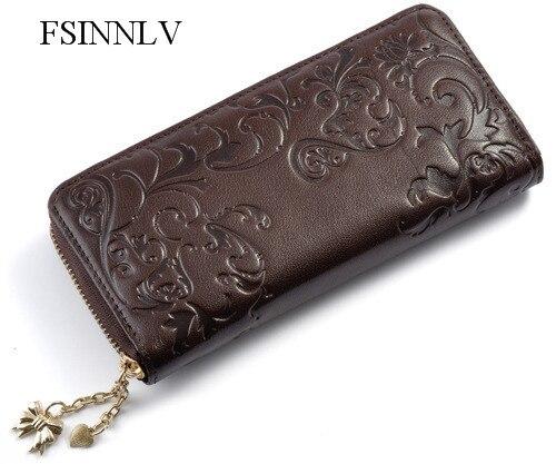couro da senhora longo carteiras Composição : Genuine Leather