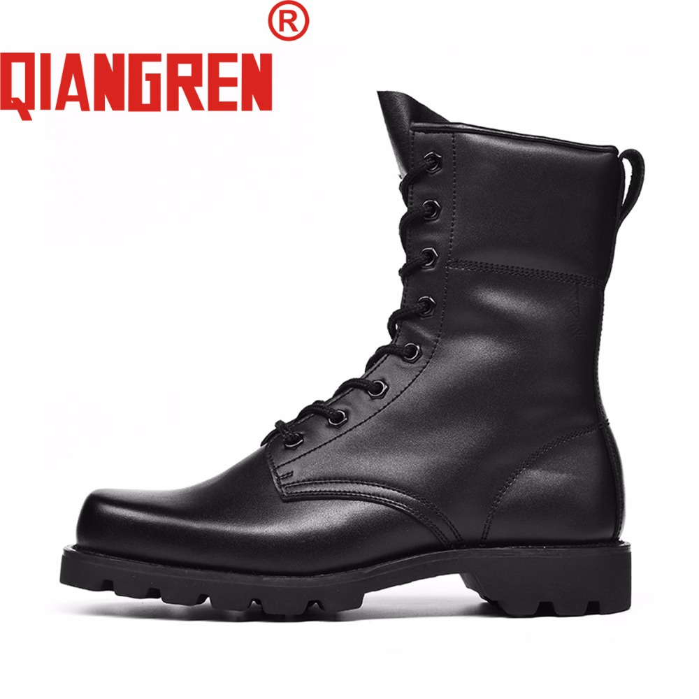 QIANGREN Military Quality Factory-direct Mens Spring Autumn Genuine Leather Rubber Tactical Boots Militar Shoes Botas Militares new premium promotional yu europe d41x d341x flange rubber seal butterfly valves factory direct quality assurance