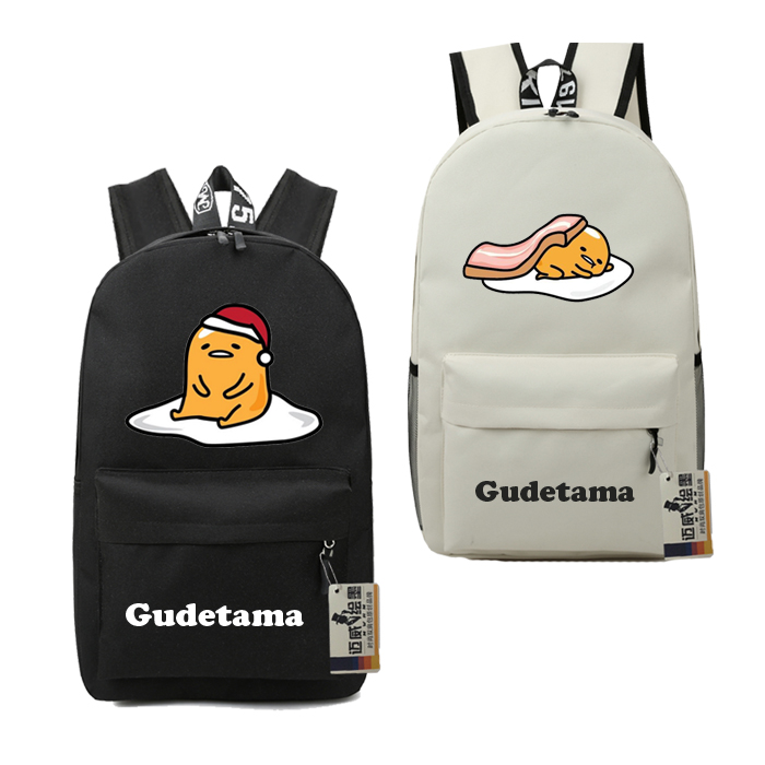 New Gudetama Lazy Backpack Hottest Lazy Egg Package Of Male And Female Students Schoolbag Men Printed Kids Cartoon Shoulder Bag