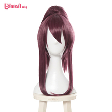 L-email wig Game Character LOL K/DA Akali Cosplay Wigs KDA Heat Resistant Synthetic Hair Perucas Cosplay Wig l email wig lol xayah cosplay wigs star guardians cosplay long pink purple wig with ears heat resistant synthetic hair perucas