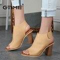 Gtime sapatos mulher verão gladiator sandals mulheres sexy peep toe com tira no tornozelo sandálias de salto alto sandalias de salto # zws97