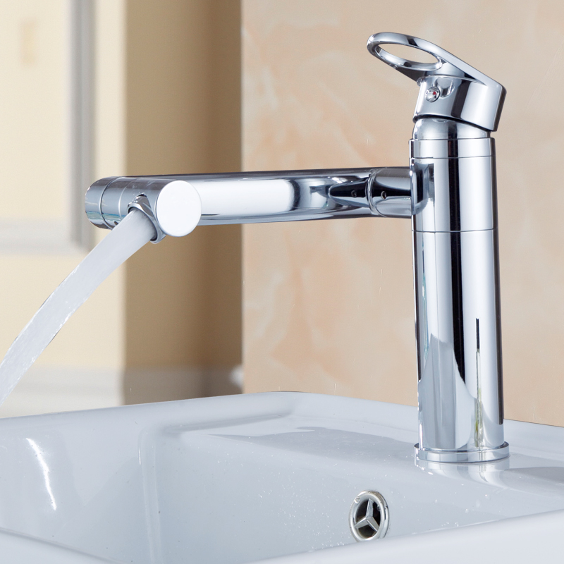 Bathroom Faucet Wash Basin Water Saving Faucet Hot and Cold Wash Basin Sink Faucet Multi-function 360 Degree Rotating Copper