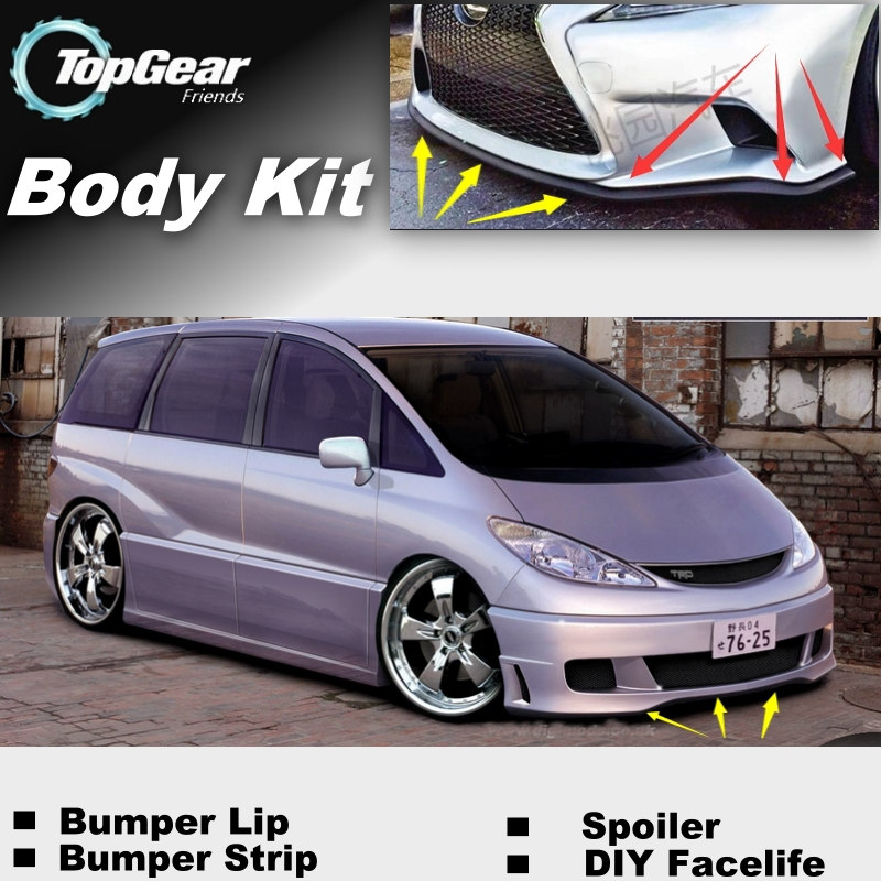 тюнинг тойота превия - For TOYOTA Previa XR Canarado Estima Tarago Bumper Lip / Front Spoiler Deflector For Car Tuning / TOPGEAR Body Kit / Strip Skirt