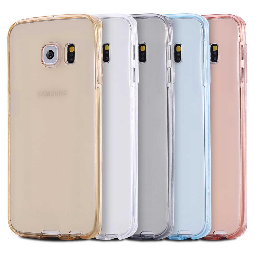 Iphone用7 5 5 s 6 6 sプラス三星銀河a3 a5 a7 j3 j5 2016 s3 s4 s5 s6 s7エッジプラスtpu 360度クリアソフトカバーケース