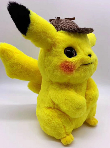 2019 new 25/35/42cm Detective Pikachu Plush Toy High Quality Cute Anime Plush Toys Children's Gift Toy Kids Cartoon Peluche