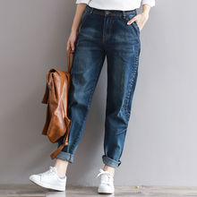 2018 Boyfriend Jeans Harem Pants Women Trousers Casual Plus Size Loose Fit Vintage Denim Pants High Waist Jeans Women Vaqueros