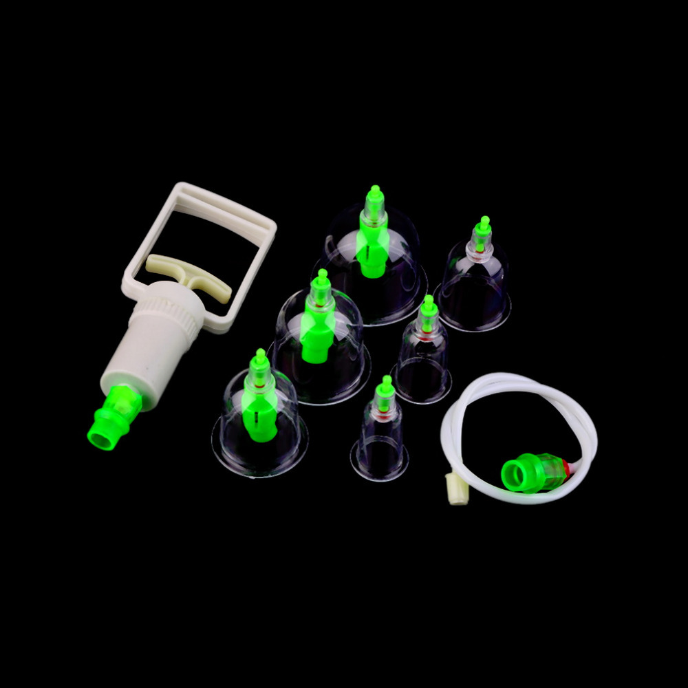 Hot Sale 1 Set 6 Can Massager Health Monitors Products Can Opener Pull Vacuum Cupping of The Tanks Cutem Extractor Acupuncture