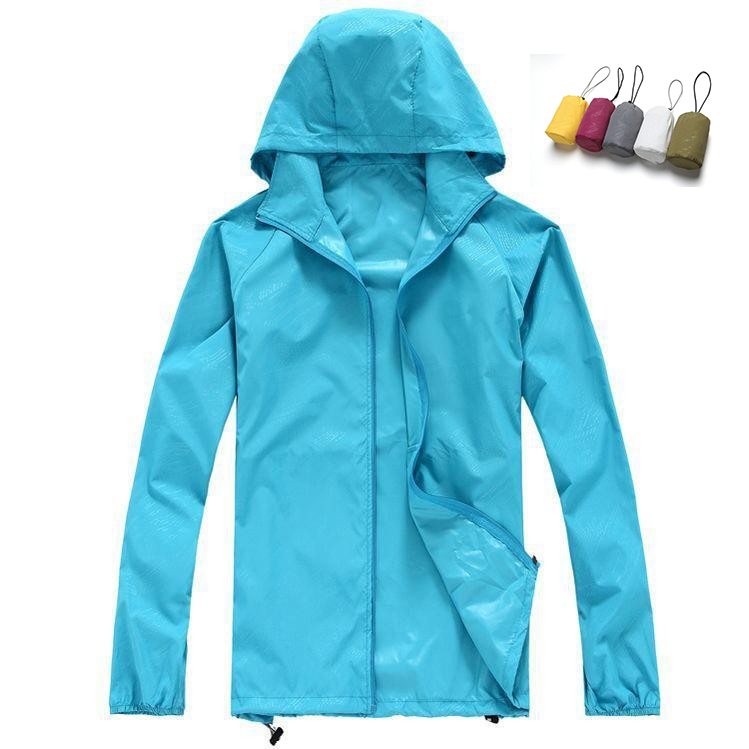 Men Women Quick Dry Hiking Jackets  Waterproof Sun Protective Outdoor Sports Coats Skin Male Female Windbreaker|hiking jacket waterproof|hiking jackets|quick dry hiking jacket - title=