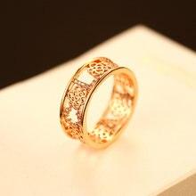 Женское кольцо с цветком agood роскошное металлическое из розового