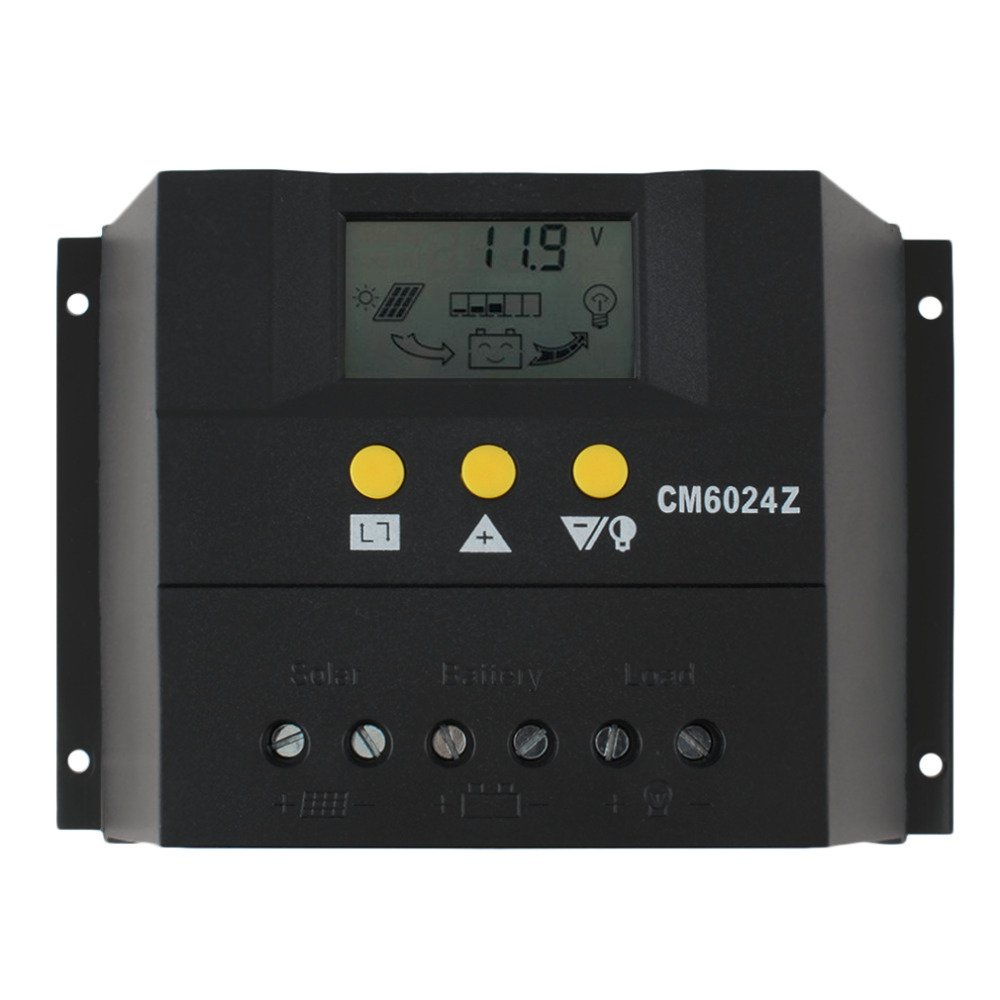 PWM charge mode PY6024Z 60A 12-24V Solar Regulator Solar Charge Controller LCD Solar Genetator Voltage ControlPWM charge mode PY6024Z 60A 12-24V Solar Regulator Solar Charge Controller LCD Solar Genetator Voltage Control