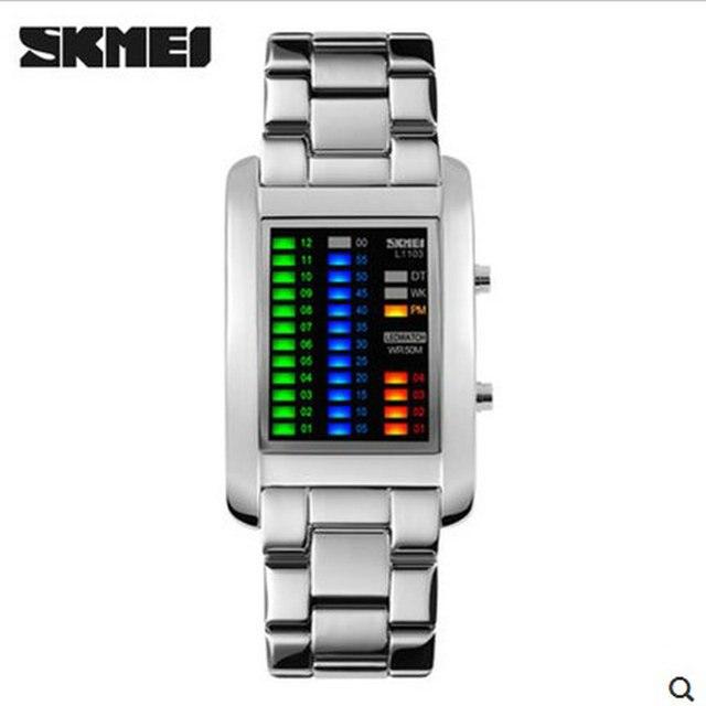 Novos Esportes Ao Ar Livre Dos Homens Marca de Luxo Skmei LED Digit Assista Moda Casual Relógios de Pulso À Prova D' Água Menino Estudante Relógios Eletrônicos