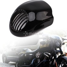 Black Motorcycle Front Cowl Fork Mount Headlight Fairing Visor Grill Mask for Harley Sportster Dyna XL FX 883 Free Shipping цены онлайн