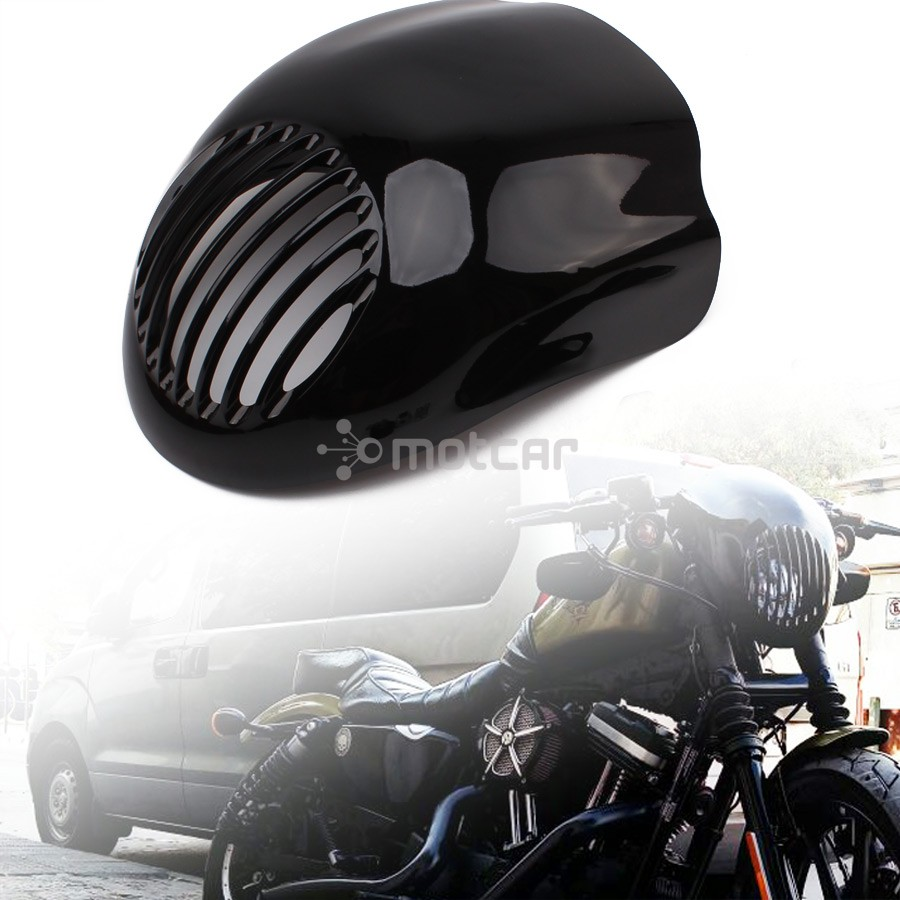 Noir moto avant capot fourche montage phare carénage visière Grill masque pour Harley Sportster Dyna XL FX 883 livraison gratuite