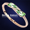 Brand Jadebracelets & Bangles Gold Plated Pulseras Bangles For Women With Swarovski Elements Crystal Cristal Bijoux Jewelry