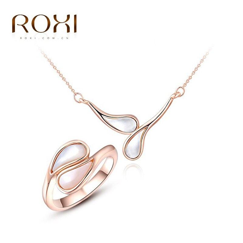 Roxi 2017 felicidad crystal cross collares/stud pendientes rosa anillo de oro jo