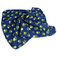 Dog Cat Blanket Paw Print Pet Dog Soft Fleece Mat
