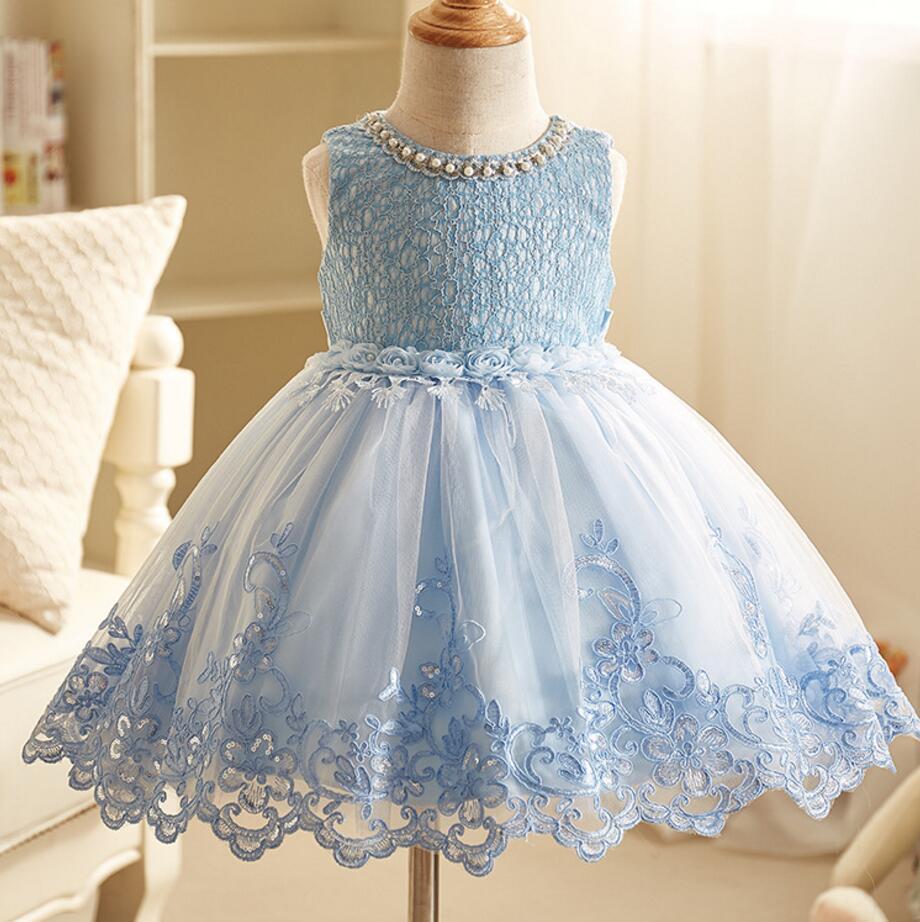 Baby Mädchen Abendkleider Wenig Brautjungfer Hochzeit Kleid Tutu ...
