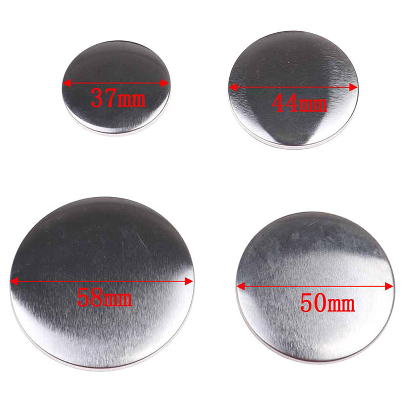 10Pcs 37-58mmPlastic Metal Blank Badge Pin Button Parts Supplies For Clothes Badge Button Maker Metal DIY Crafts Materials