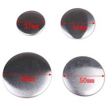 10 шт. 37-58mmPlastic металлической заготовки значок кнопки Запчасти расходные материалы для одежды значок кнопки Maker металлические материалы для поделок DIY