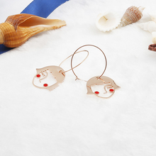 gothic women earrings punk rose gold wholesale accessories studs jewels