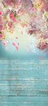 Frete grátis happy Valentine Backdrops Fotografia Vinil Backdrops Estúdio Foto Fundos de madeira Amor romântico casamento D9923
