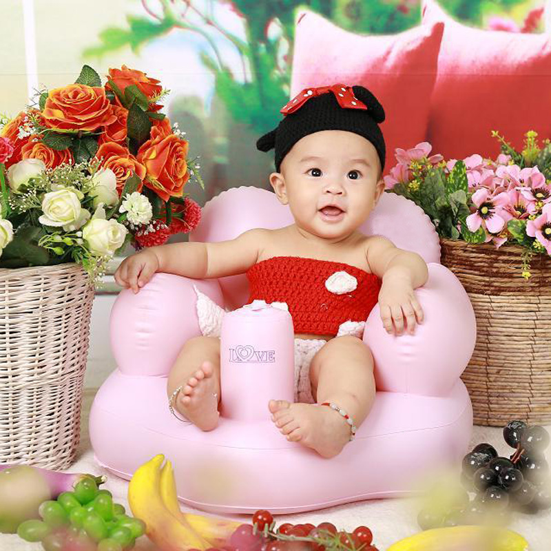 Bath Seat Child Sofa Chair Seat Inflatable Baby Kid Children ...