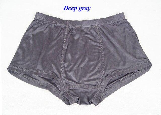 100% seda natural de punto de la ropa interior de los hombres, boxeadores masculinos de punto de seda pura, seda de la nueva llegada más el tamaño de la ropa interior suave, M-5XL