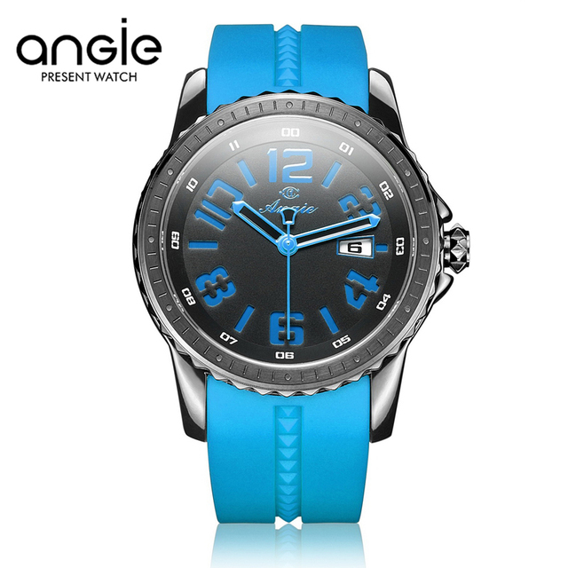 ANGIE Women's Sports Watches For Fashion Brand Female Rubber Clock Ladies Silicone Quartz Wristwatch Reloj Deportivo Mujeres