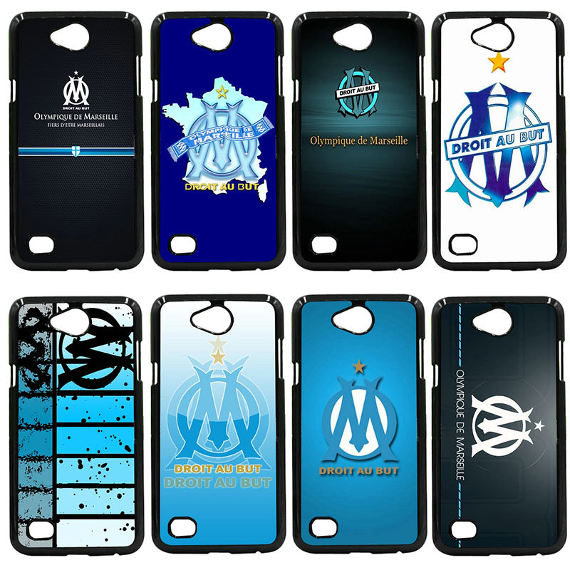 Olympique de Marseille FC Logo Phone Cases Hard PC Cover for LG L Prime G2 G4 G5 G6 G7 K4 K8 K10 V20 V30 2017 Nexus 5 6 5X Pixel