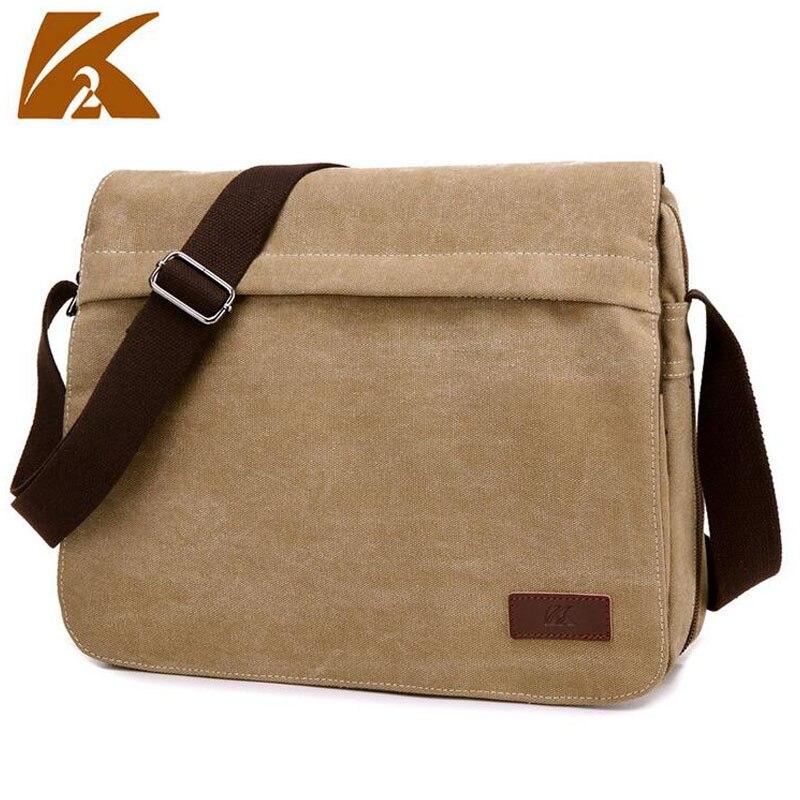 KVKY Mens Multifunction Canvas Messenger Bag Casual Vintage Big Shoulder Satchel Bag Business Travel Crossbody Laptop Bag B302
