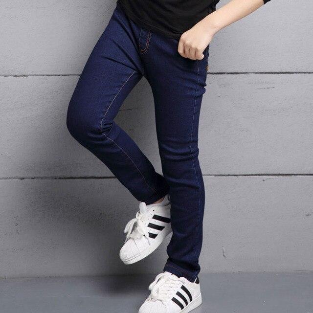 84329ef0c5 black blue boy skinny jeans for kids denim jeans pants clothing 2017 new  fashion spring solid kids boys pants children trousers