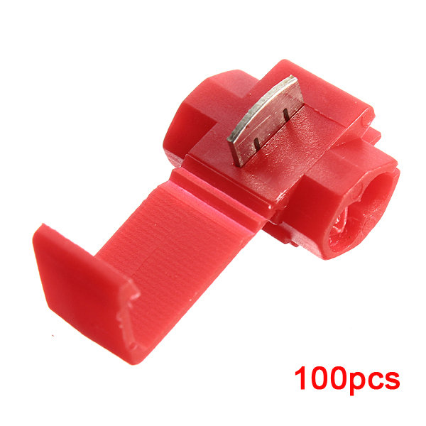 100pcs/lot Scotch Lock Quick Splice Crimp Terminal 22-18 AWG Hard Soft 0.5-1.0 Wire Connector -Red 100pcs g10 4 8mm crimp terminal splice female spade connector splice with case high quality sell at a loss usa belarus ukraine