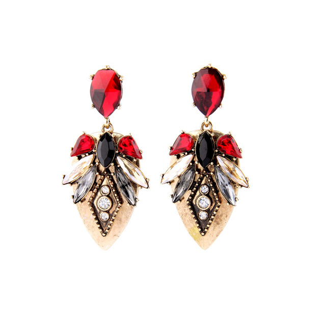 Vintage Style Birdy Marquise Earring Stud Clic Display Fashion Online Gold Color Earrings Long For Women
