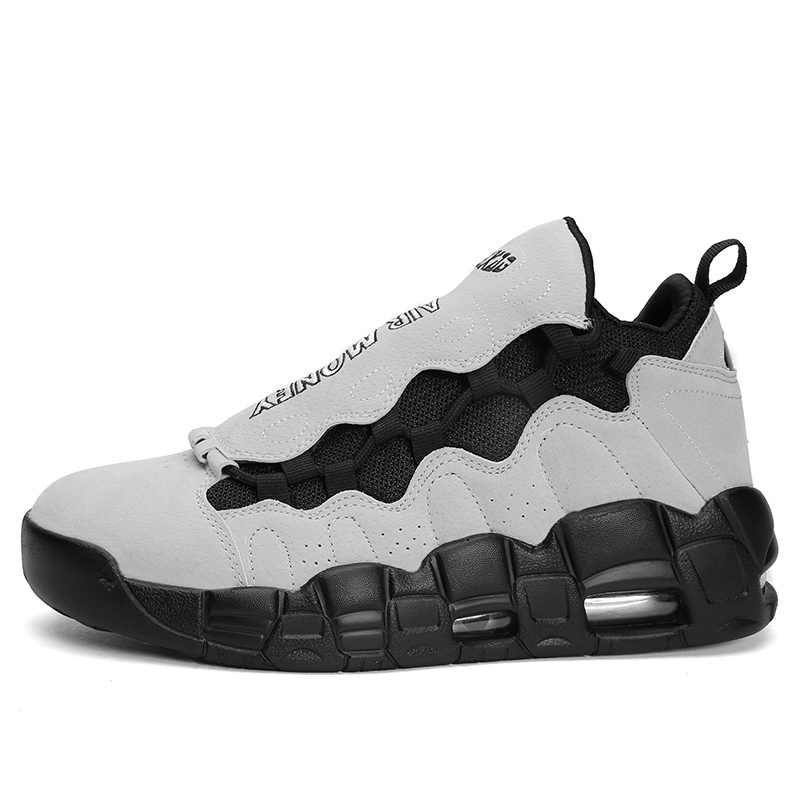 sports shoes a01d5 5af9d New arrival Air more money off white and black super star low top  basketball jordan shoes