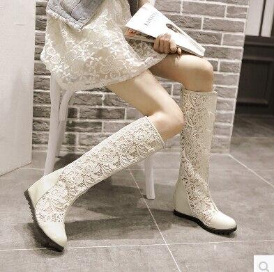 Zapato Del 01 02 Aumento Verano Frescas Mujer Dentro Coreana Botas 2017 Primavera 03 Versión Huecas Altas De Encaje Otoño Y fqxZnRwpTE
