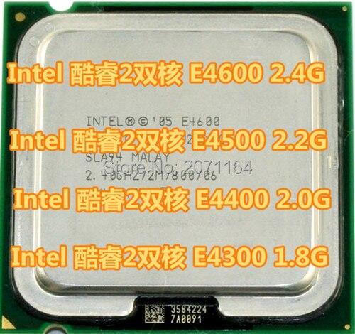 Бесплатная доставка для Intel Core 2 Duo E4300 1.8 Г 775 pin настольный компьютер CPU