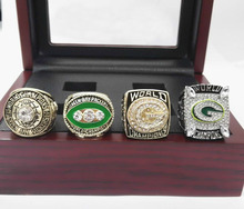 Facyory Directa Venta 4 Años Para 1966 1967 1996 2010 Green Bay Packers Super Bowl Championship Anillos Con Cajas De Madera