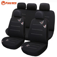 Car Styling Butterfly Embroidered Car Seat Cover Elastic Protection Car Front Chair Protector Cushion Case Universal