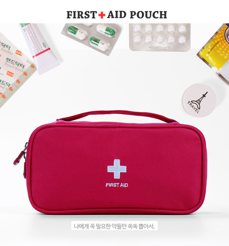 Image 3 - Red First Aid Kit Nylon Emergency Medical First aid kit bag Nylon Waterproof Portable Car kits bag Outdoor Travel Survival kit-in Emergency Kits from Security & Protection